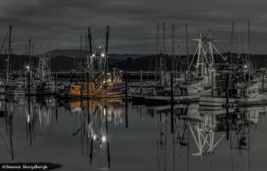 3247 Pre-dawn, Yaquina Bay Harbor, Newport, OR