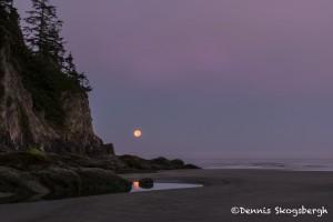 5166 Dawn, Setting Moon, Smuggler's Cove, Oregon