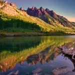 1005 Morning Reflections, Maroon Lake, CO