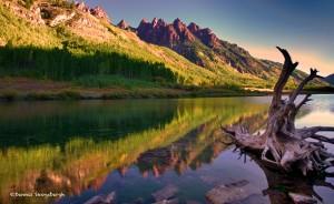 1005 Morning Reflections, Maroon Lake, CO
