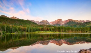 1066 Morning Reflections, Sprague Lake, Rocky Mountain National Park, CO