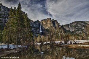 1076 'Swinging Bridge View' of Yosemite Falls,