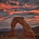 1113 Sunset, Delicate Arch, Arches National Park, UT