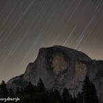 1743 Star Trails, Half Dome