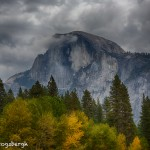 1751 Half Dome, Autumn Color, Brewing Snow Storm