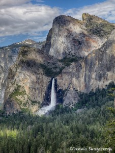 1809 Bridalveil Falls fron the 'Tunnel View', June