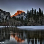 1825 Sunset, Half Dome, February