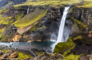 2823 Haifoss, Iceland, waterfall
