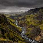 2824 Highland Valley Below Haifass and Granni Waterfalls, Iceland