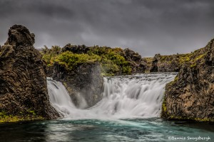 2827 Hjalparfoss, Iceland, waterfall