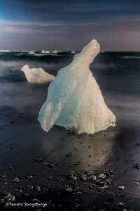 2832 Sunset, Jokulsarlon Iceberg Beach, Iceland