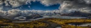 2849 Rain Showers over Fjallsarlon Glacier Lagoon, Iceland