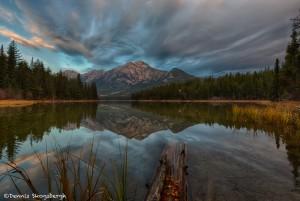 2942 Sunrise, Pyramid Mountain and Lake, Jasper National Park, Alberta, Canada