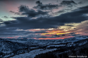 2992 Sunrise, Yellowstone National Park, February