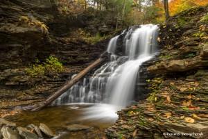 3793 Shawanee Waterfall, October, Ricketts Glen State Park, PA