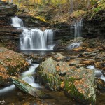 3794 R.B. Ricketts Waterfall, October, Ricketts Glen State Park, PA
