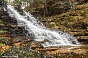 3795 F. L. Ricketts Waterfall, October, Ricketts Glen State Park, PA