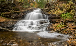 3796 Onondage Waterfall, October, Ricketts Glen State Park, PA
