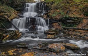 3797 Tuscarora Waterfall, October, Ricketts Glen State Park, PA