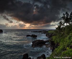 4287 Black Sand Beach, Pailoa Bay, Waianapanapa State Park, Maui, Hawaii
