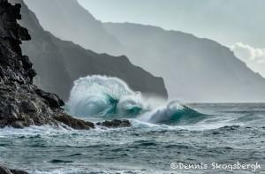 4318 Wave Action, Ke'e Beach, Kauai, Hawaii