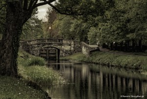 4387 Lock and bridge at Mount St. Cres Street, Dublin, Ireland
