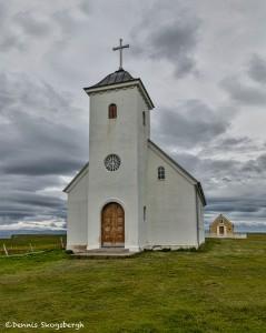 4490 Church on Flatey Island, Iceland