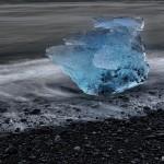 4564 Jökulsárlón Iceberg Black Beach, Iceland