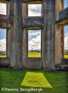 4694 Inside Downhill Demesne Looking to Mausoleum, Londonberry, Northern Ireland