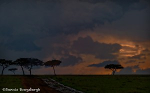 4953 Showers at Sunset, North East Serengeti, Tanzania