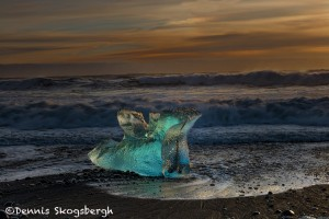 5089 Sunrise, Jökulsárlón Iceberg Beach, Iceland