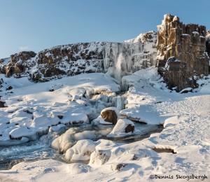 5096 Öxarárfoss Waterfall, February, Iceland