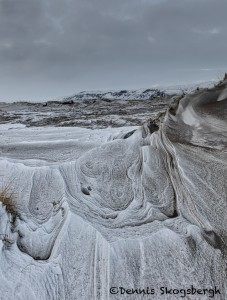 5103 Patterns in the Snow and Lava Sand, Iceland