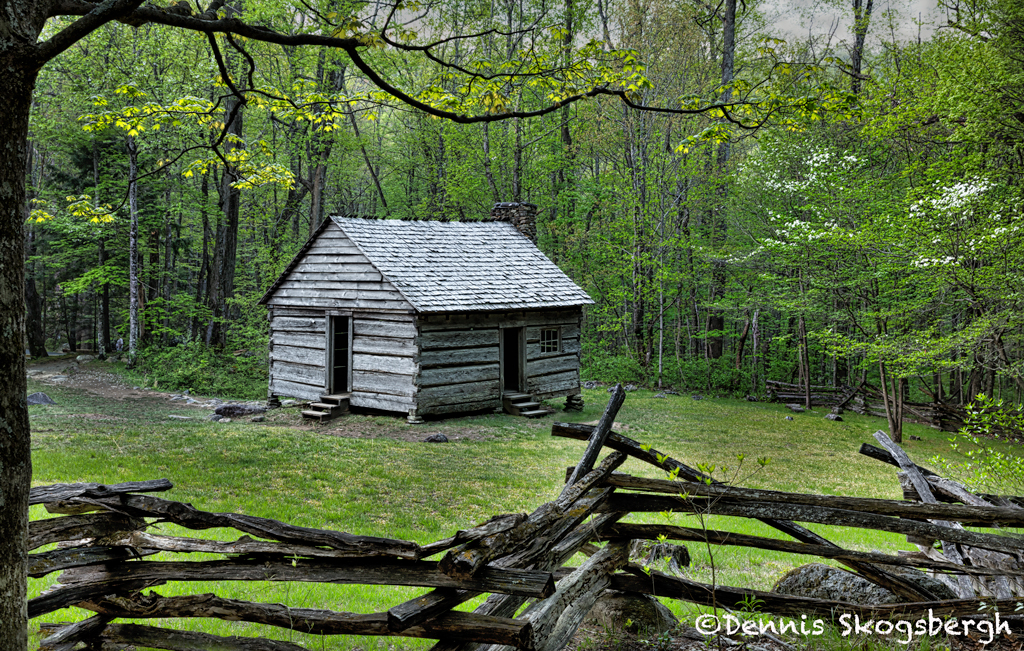 Charmant 5301 Jim Bales Historic Cabin, Spring, Great Smoky Mountains National Park,  TN