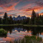 5382 Sunset, Schwabacher's Landing, Grand Teton National Park, WY