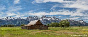 5399 Panorama, John Moulton's Barn - Teton Range, Grand Teton National Park, WY
