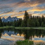 5400 Sunset, Schwabacher's Landing, Grand Teton National Park, WY