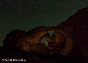 5468 Double Arch at Night, Arches National Park, UT