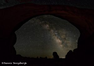 5470 Milky Way From Inside Double Arch, Arches National Park, UT