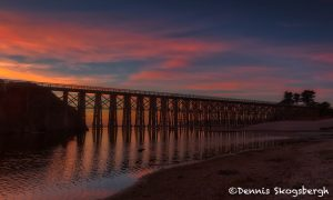 5562 Sunset, Pudding Creek Trestle, Ft. Bragg, California
