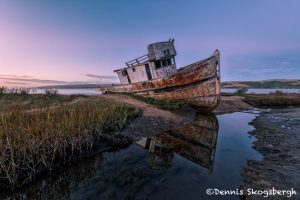 5563 Sunset, Grounded Fishing Boat, Inverness, California