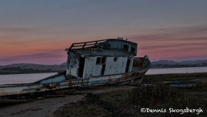5564 Sunset, Grounded Fishing Boat, Inverness, California