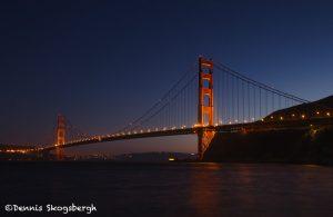 5578 Sunset, Golden Gate Bridge from Presidio Yacht Club, San Francisco, California