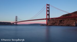 5580 Sunset, Golden Gate Bridge from Presidio Yacht Club, San Francisco California