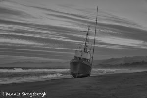 5581 Grounded Fishing Boat, Salmon Creek Beach, Sonoma, California
