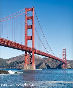 5602 Golden Gate Bridge from Marine Drive, San Francisco, California