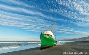5604 Grounded Fishing Boat, Salmon Creek Beach, Sonoma, California