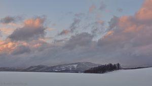 7019 Winter Landscape, Sunset, Biei, Japan