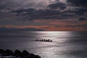 7023 Winter Landscape, Sunset, Tetrapods, Hokkaido, Japan