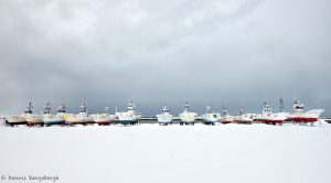 7055 Boat Storage Panorama, Hokkaido, Japan